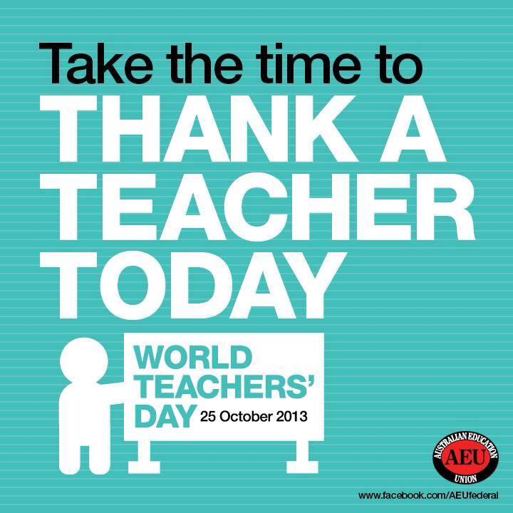 Take the time to thank a teacher