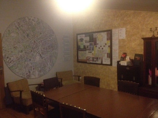in the common room there was an amazing map